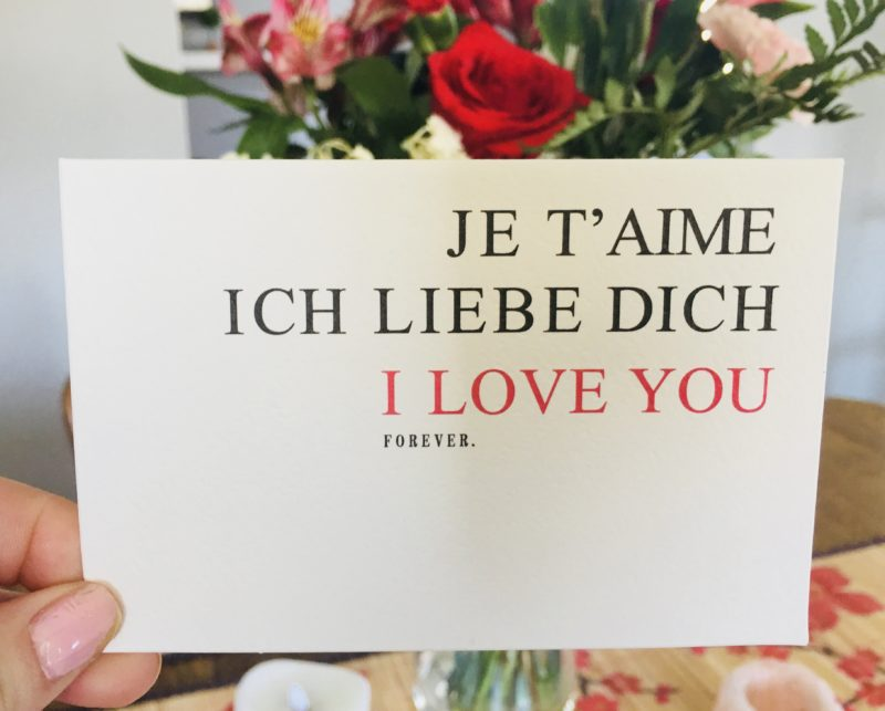 flowers card valentines day love roses i love you je t'aims